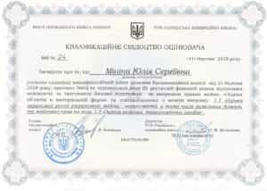 ЭКСПЕРТНАЯ ОЦЕНКА ВЕКСЕЛЕЙ, Квалификационное свидетельство оценщика